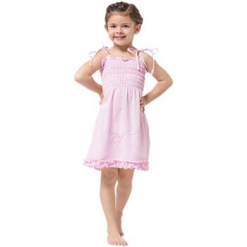 Vêtements Fille Robes courtes La Cotonniere  Rose