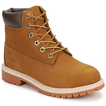 Schuhe Kinder Boots Timberland 6 IN PREMIUM WP BOOT Braun / Honig