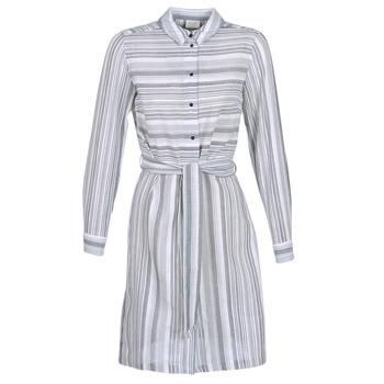 Kleidung Damen Kurze Kleider Vila VINAVIDA Weiß / Blau