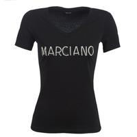 Kleidung Damen T-Shirts Marciano LOGO PATCH CRYSTAL Schwarz