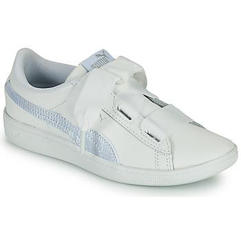 Schuhe Kinder Sneaker Low Puma VIKKY RIB PS BL Weiß