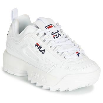 Schuhe Kinder Sneaker Low Fila DISRUPTOR KIDS Weiß