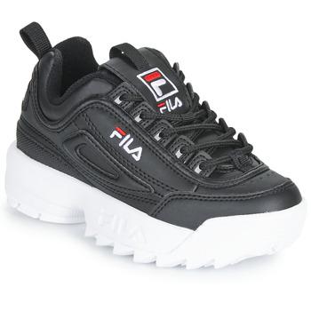 Schuhe Kinder Sneaker Low Fila DISRUPTOR KIDS Schwarz