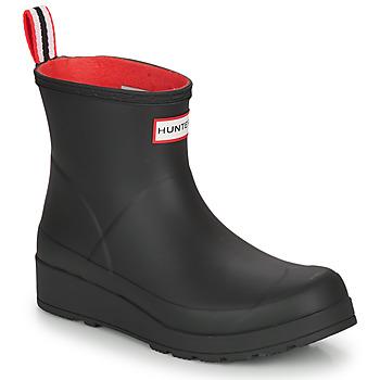 Chaussures Femme Bottes de pluie Hunter WOMENS ORIGINAL INSULATED PLAY SHORT Noir