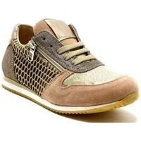 Chaussures Fille Baskets basses Reqin's Basket Edge Mix Lurex rose