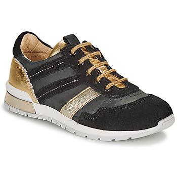 Chaussures Fille Baskets basses Catimini CAMELINE Noir / Doré