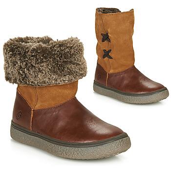 Schuhe Mädchen Boots GBB OLINETTE Braun,