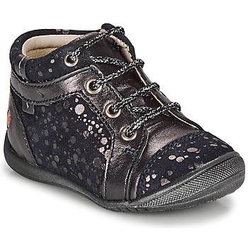 Schuhe Mädchen Boots GBB OMANE Marineblau / Silber