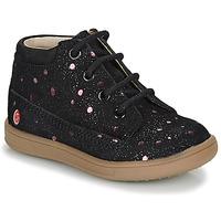 Chaussures Fille Boots GBB NINON Noir / Rose