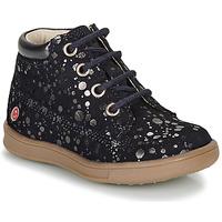 Schuhe Mädchen Boots GBB NINON Marineblau / Silbrig