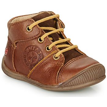 Schuhe Jungen Boots GBB OULOU Braun, / Kognac