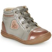 Scarpe Bambina Sneakers alte GBB OTANA Grigio / Rosa