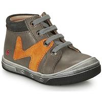 Chaussures Garçon Baskets montantes GBB OLINOU Gris / Ocre