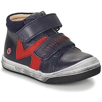 Chaussures Garçon Baskets montantes GBB OGROU Bleu / Rouge