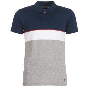 Vêtements Homme Polos manches courtes Casual Attitude KOULAZ Marine / Gris / Blanc