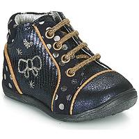 Chaussures Fille Boots Catimini CARASSIN Marine / Doré
