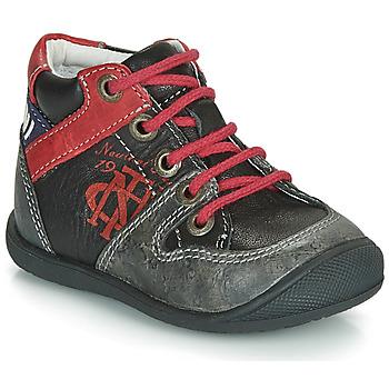 Chaussures Garçon Boots Catimini COMATULE Noir / Rouge