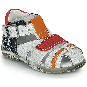 Schuhe Jungen Sandalen / Sandaletten GBB MELVIL Weiss / Rot / Orange