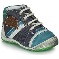 Chaussures Garçon Boots Catimini CIGOGNE Bleu / Vert