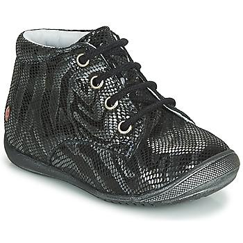 Chaussures Fille Boots GBB NAOMI Noir / Argenté