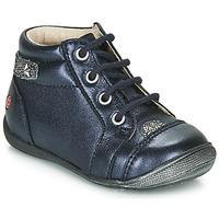Schuhe Mädchen Boots GBB NICOLE Marineblau / Silbrig