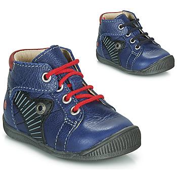 Chaussures Garçon Boots GBB NATALE Bleu / Rouge