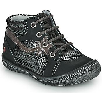 Chaussures Fille Boots GBB NORA Noir / Argenté