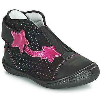 Chaussures Fille Boots GBB NOLWENN Noir / Rose