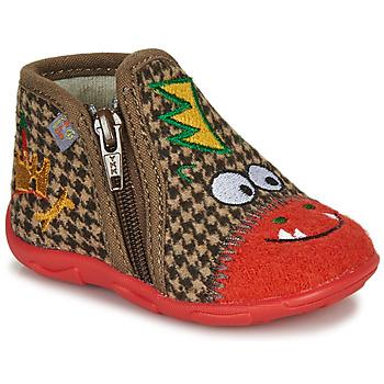 Schuhe Jungen Hausschuhe GBB NEREO Rot / Braun
