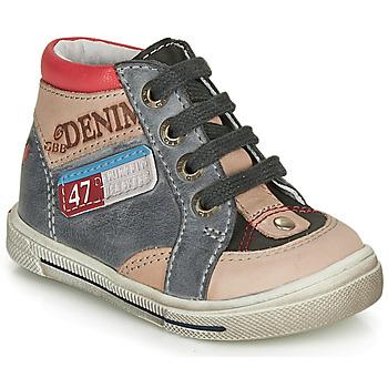 Schuhe Jungen Sneaker High GBB PARIS Grau / Beige