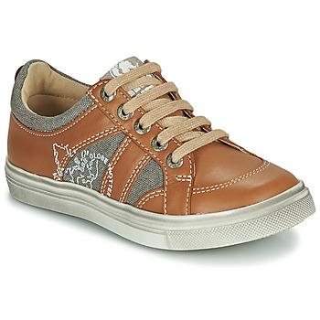 Chaussures Garçon Baskets basses GBB PALMYRE Cognac