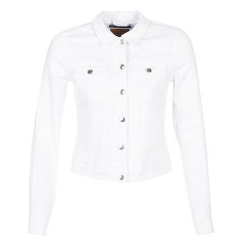 Kleidung Damen Jeansjacken Only ONLTIA Weiß