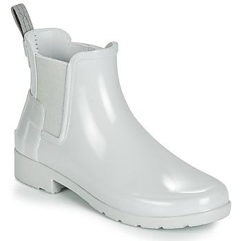 Schuhe Damen Gummistiefel Hunter ORIGINAL KIDS Grau