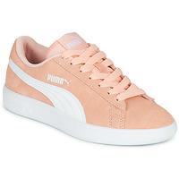 Schuhe Mädchen Sneaker Low Puma SMASH V2JR PEAC Koralle