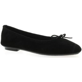 Chaussures Femme Ballerines / babies Reqin's Ballerines cuir velours Noir