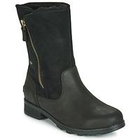 Chaussures Femme Boots Sorel EMELIE FOLDOVER Noir