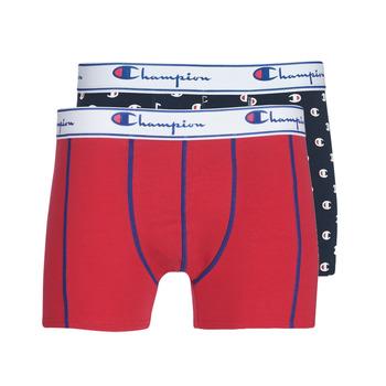 Sous-vêtements Homme Boxers Champion MIX UNI + IMPRIME X2 Noir / Rouge
