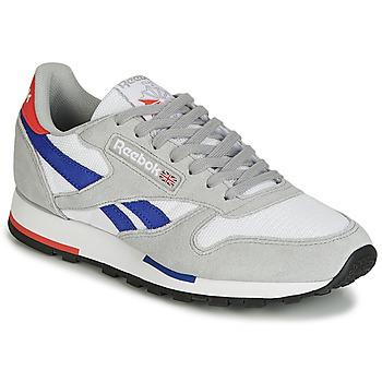 Schuhe Sneaker Low Reebok Classic CL LEATHER MU Grau / Blau