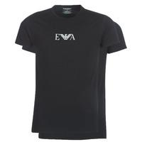 Vêtements Homme T-shirts manches courtes Emporio Armani CC715-PACK DE 2 Noir