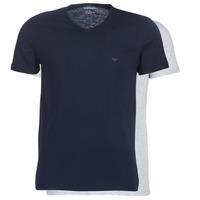 Vêtements Homme T-shirts manches courtes Emporio Armani CC722-111648-15935 Marine / Gris