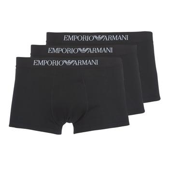 Sous-vêtements Homme Boxers Emporio Armani CC722-PACK DE 3 Noir