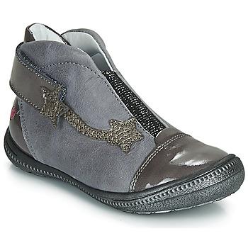 Chaussures Fille Boots GBB NOLWENN Gris / Argenté