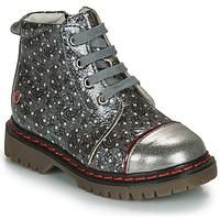Chaussures Fille Boots GBB NEVA Gris métalisé