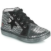 Chaussures Fille Baskets montantes GBB LETO Noir / Argenté