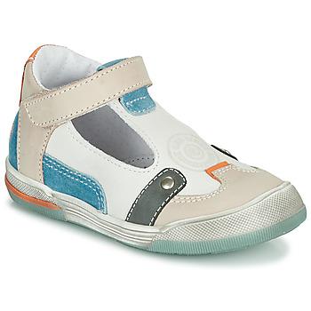 Schuhe Jungen Sandalen / Sandaletten GBB PERCEVAL Weiß / Beige / Blau