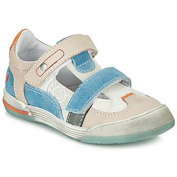 Schuhe Jungen Sneaker Low GBB PRINCE Weiss / Beige / Blau