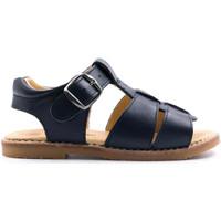Chaussures Enfant Sandales et Nu-pieds Boni & Sidonie Sandales en cuir à boucles - MINI-ACHILLE Bleu Marine