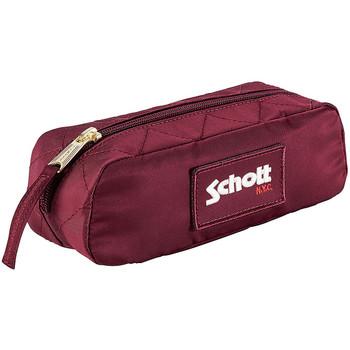 Sacs Trousses Schott Trousse scolaire  ref_jaj44066 Burgundy 21*6*7 rouge