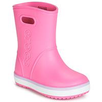 Scarpe Bambina Stivali da pioggia Crocs CROCBAND RAIN BOOT K Rosa