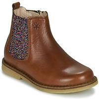 Schuhe Mädchen Boots Acebo's 5274-CUERO Braun,